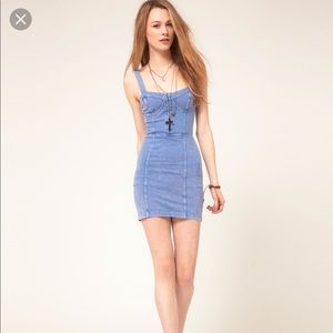 ✌🏼Free People Denim Bodycon sz S